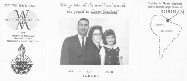 yohner prayer card