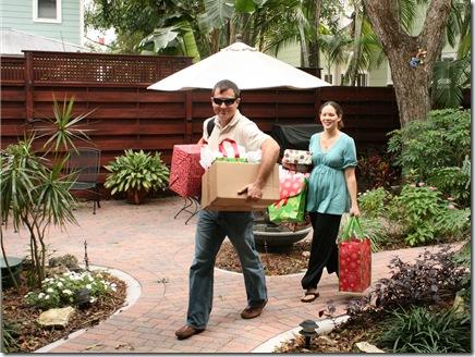 Jesse & Amber bearing gifts