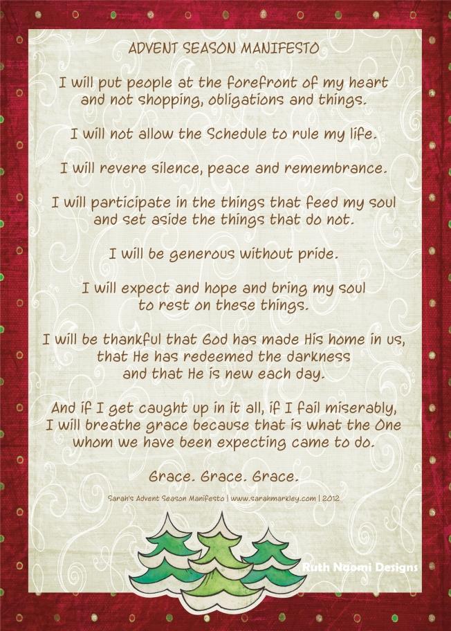 advent season manifesto