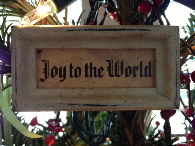 joy to the world