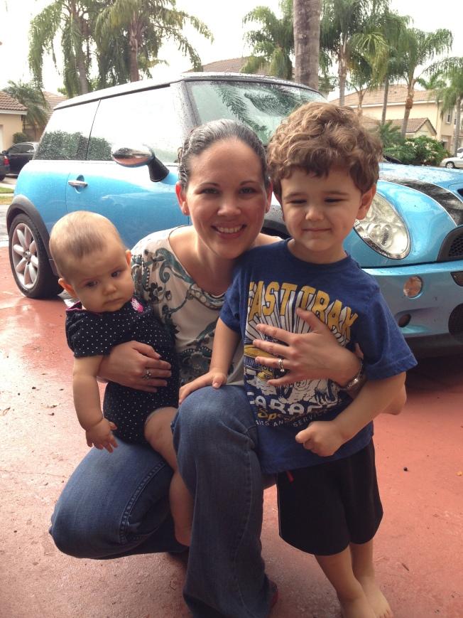 amber and kids