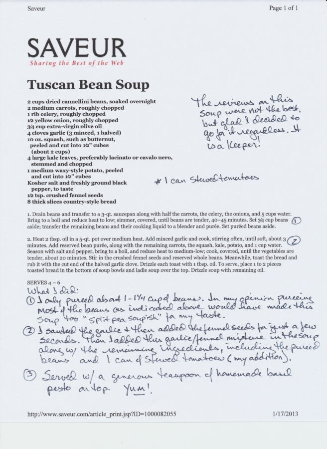 Tuscan Bean Soup Recipe (Saveur)
