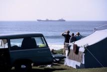 camping at the Indian Ocean