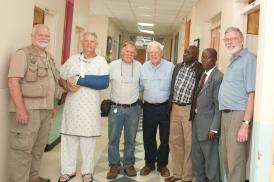 the DeJong men and Kenyan pastors